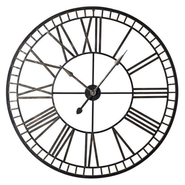 black and gold metal clock