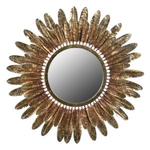 Gold Feathers Mirror