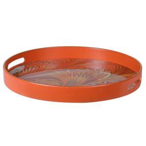 Marbled Orange Tray