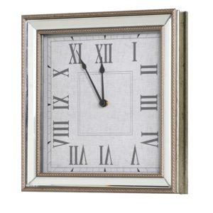 Mirror Framed Clock