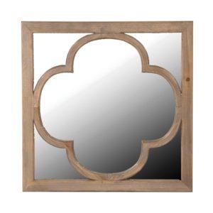 Wood Relief Mirror