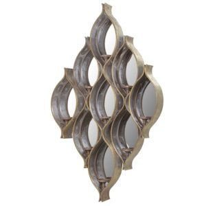 Ornate Mirror with Candle Holders