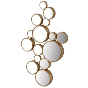 Gold Circles Mirror