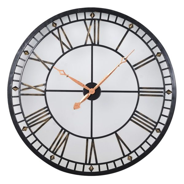 Lit Metal Clock