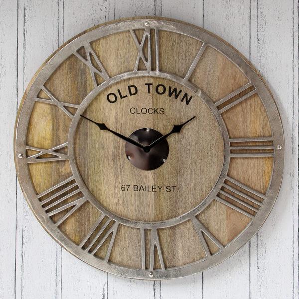Mango Wood Wall hanging clock