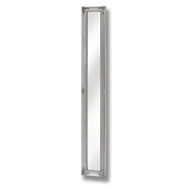 Antique Silver Framed Narrow Mirror