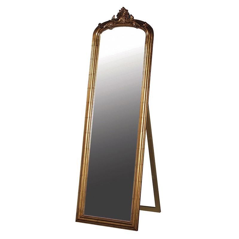 Antique Gold Floor Mirror Avalon Interiors