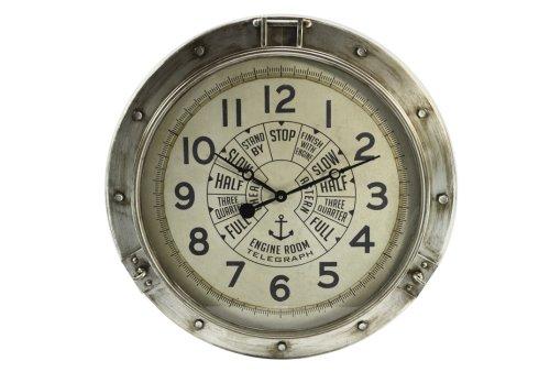 Vintage style engine room clock. Looks antique.