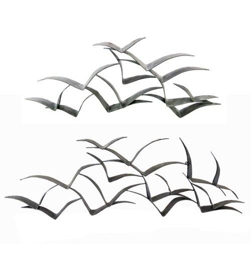 Handmade wall art/decor flock of birds flying