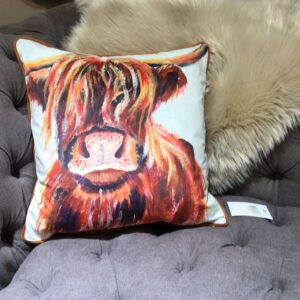 Highland Cow Feather Filled Cushion